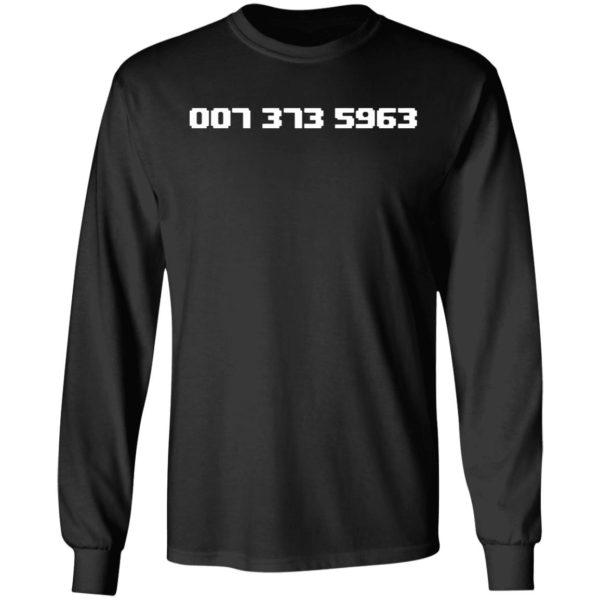 007 373 5963 Shirt Famous 90s Video Game Codes Black T Shirts