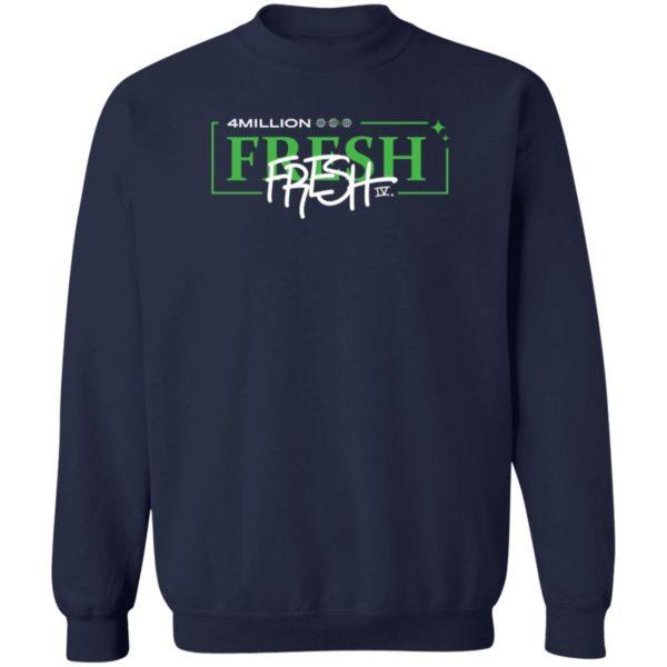 Fresh 4 Million fresh4mill Hoodie fresh4mill Hoodie Sweatshirt Fresh 4 Million Hooded Sweatshirt