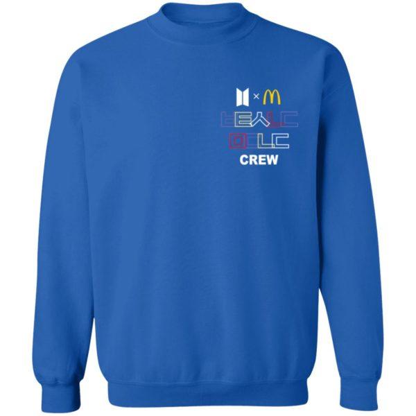 Official McDonald's x BTS Merch Crew Shirt