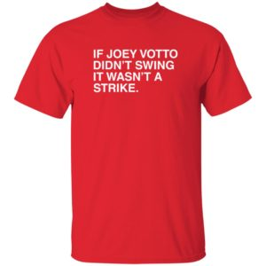 Obvious Shirts If Joey Votto Didn't Swing It Wasn't A Strike T Shirt