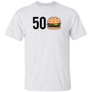 Barstool Sports Store 50 Burger Tee Shirt Colton Korn 50 Hamburger Shirt